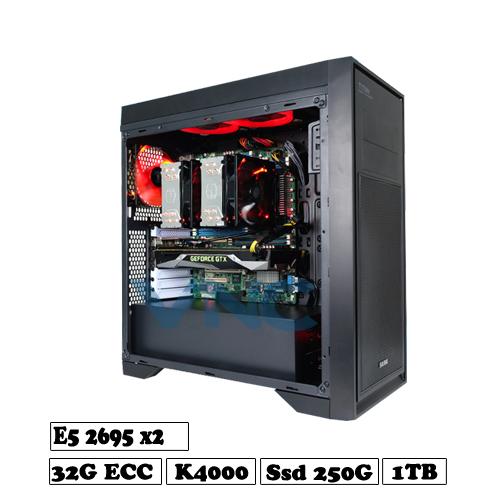 máy tính đồ họa render xeon 2695