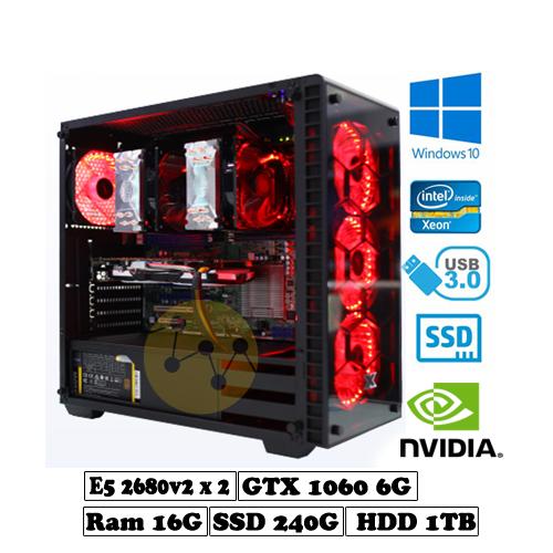 Dual Xeon e5 2680v2-1060 6g