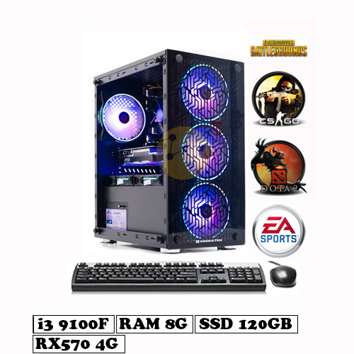 PC Gaming Core i3 9100F – RX570 4G